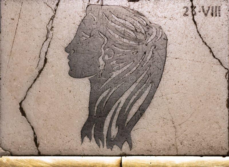 Forntida horoskopteckenaries royaltyfria foton