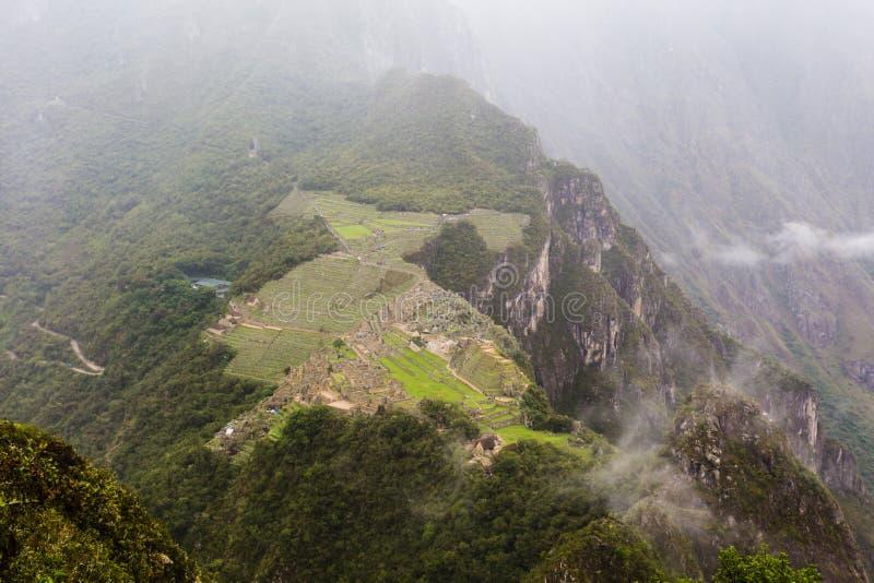Forntida Incastad av Machu Picchu arkivfoto