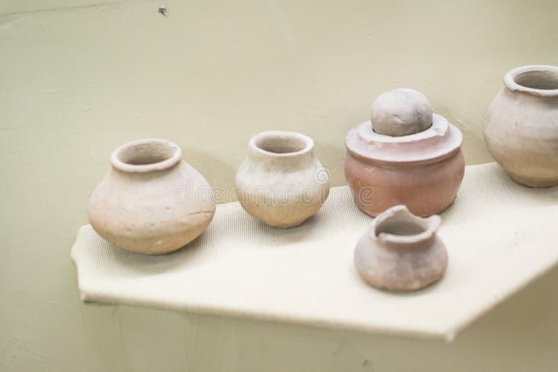 Forntida Indien Nimar för krukmakeri region royaltyfria foton