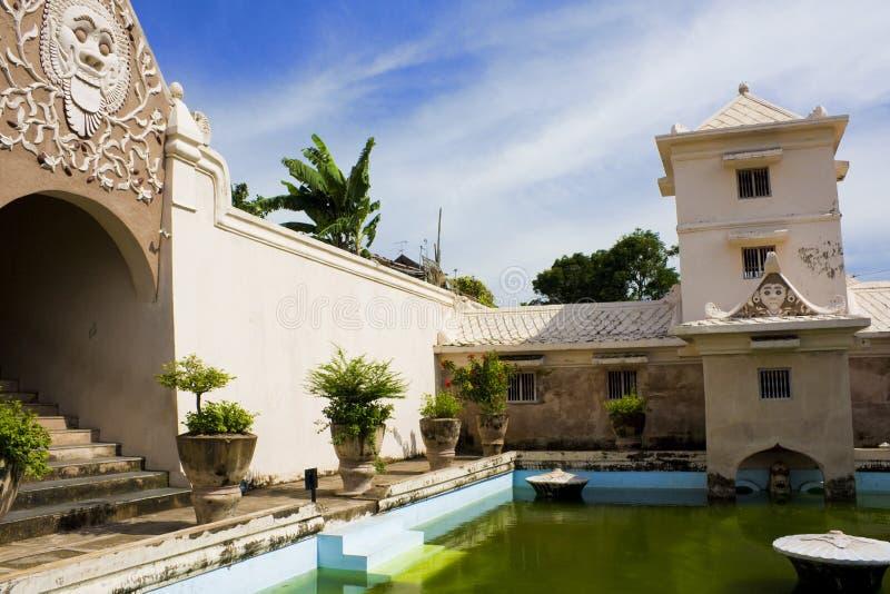 forntida indonesia pools kungliga yogyakarta royaltyfri bild