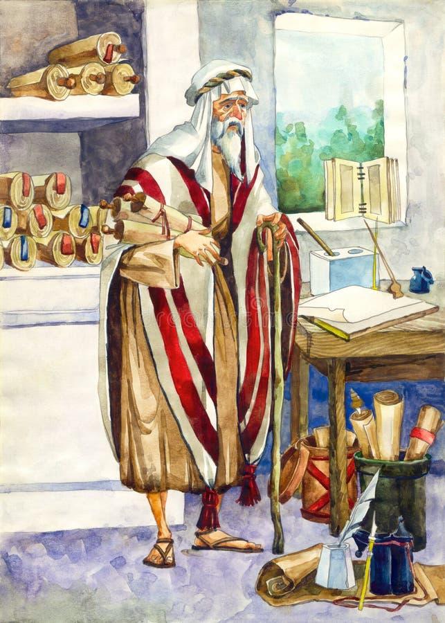 forntida israel scribe stock illustrationer