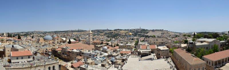forntida jerusalem tak royaltyfri fotografi
