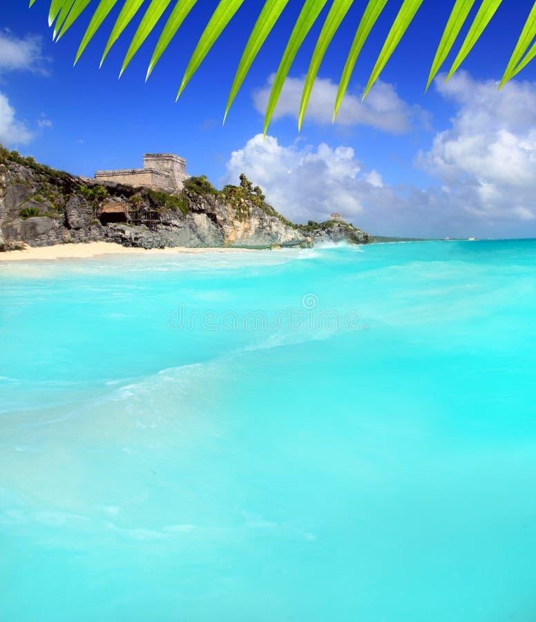 forntida karibiskt mayan fördärvar havstulumsikt fotografering för bildbyråer