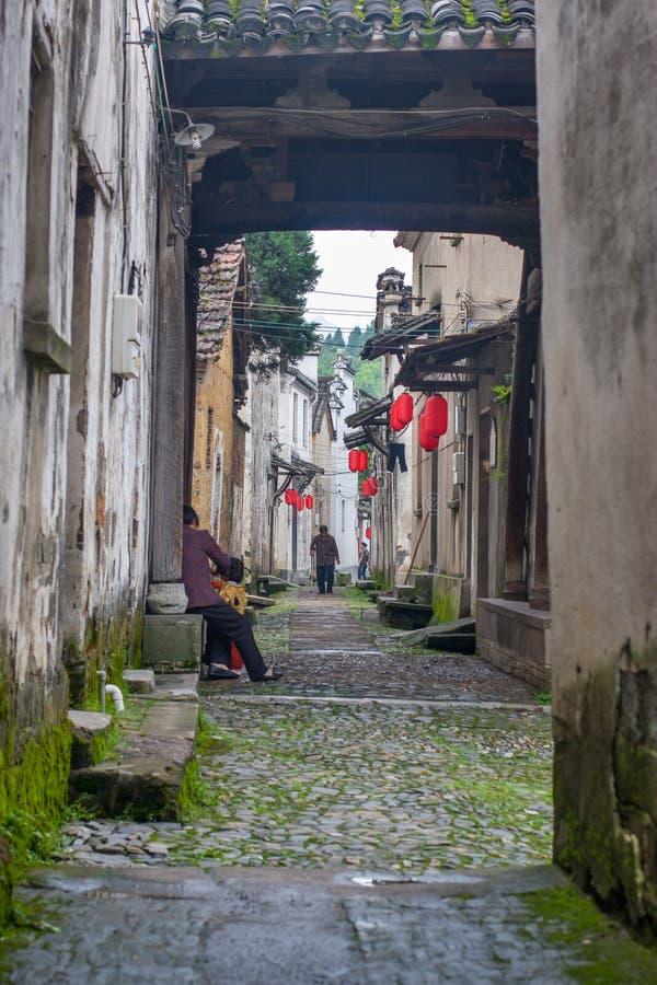 Forntida kinesisk by i södran Kina, Changle arkivbild