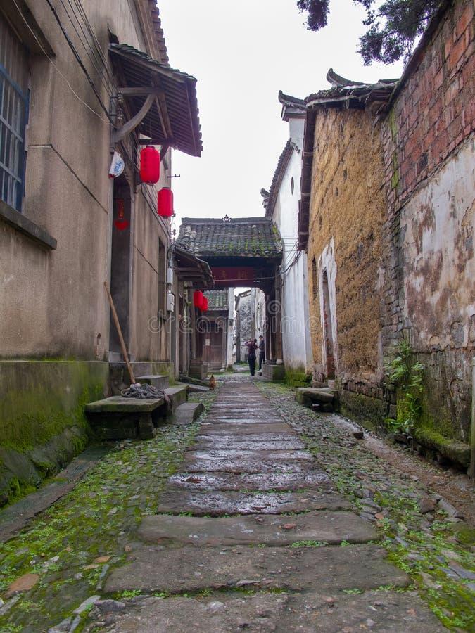 Forntida kinesisk by i södran Kina, Changle arkivfoto