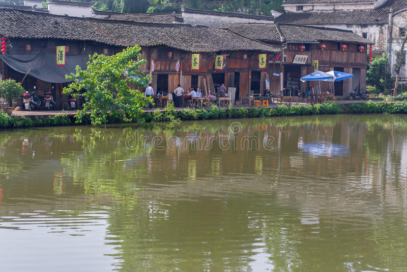 Forntida kinesisk by i södran Kina, Zhugecun royaltyfri fotografi