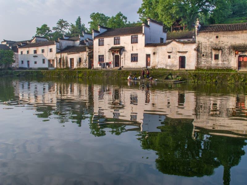 Forntida kinesisk by i södran Kina, Zhugecun royaltyfria bilder