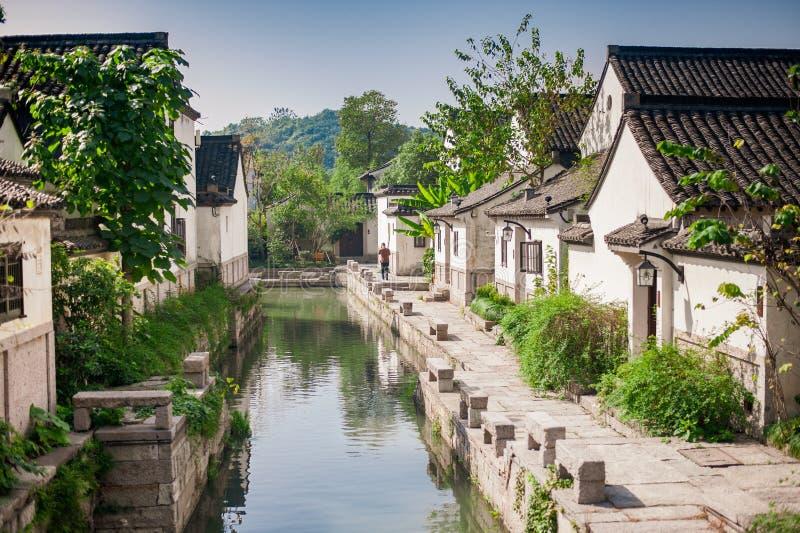 Forntida kinesisk klassisk traditionell by royaltyfri fotografi