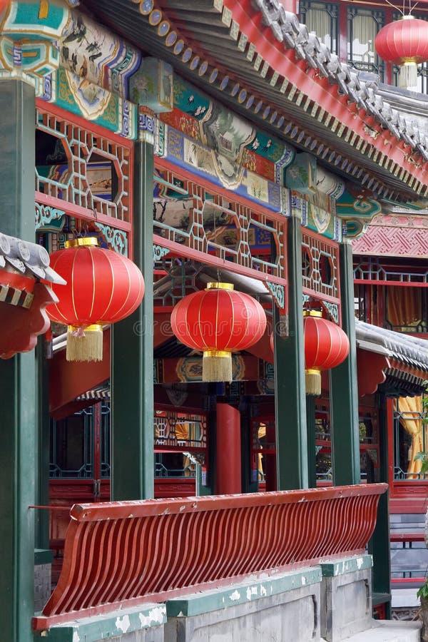 forntida kinesisk korridor long fotografering för bildbyråer