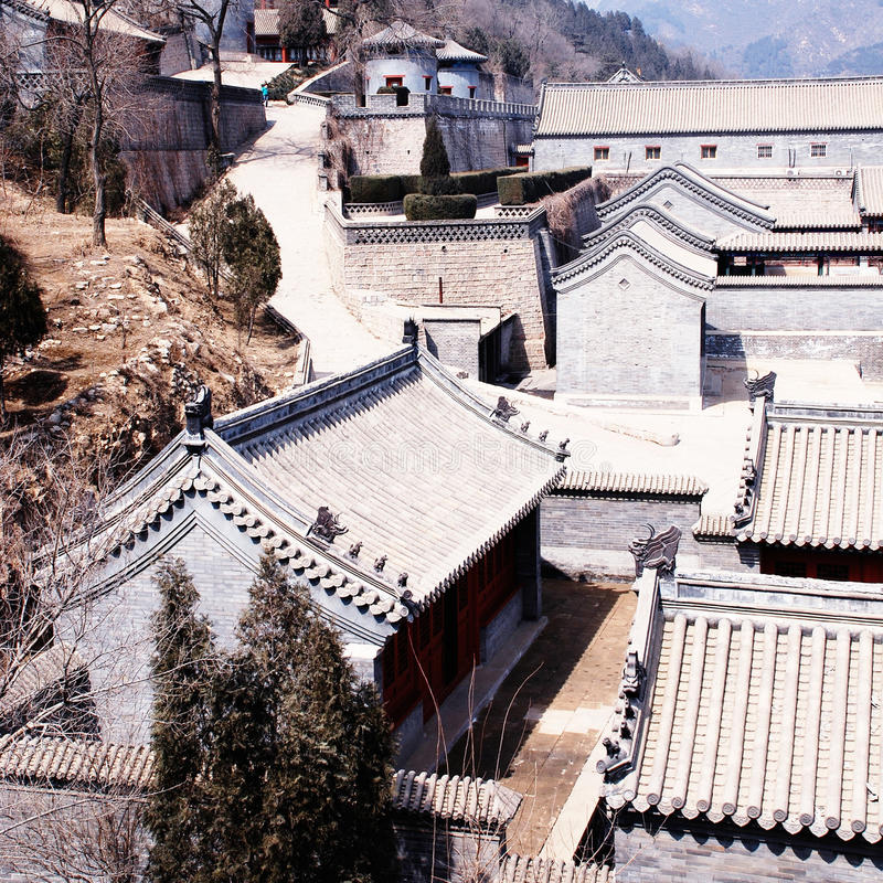 Forntida kinesisk stenby (Beijing, Kina) royaltyfri bild