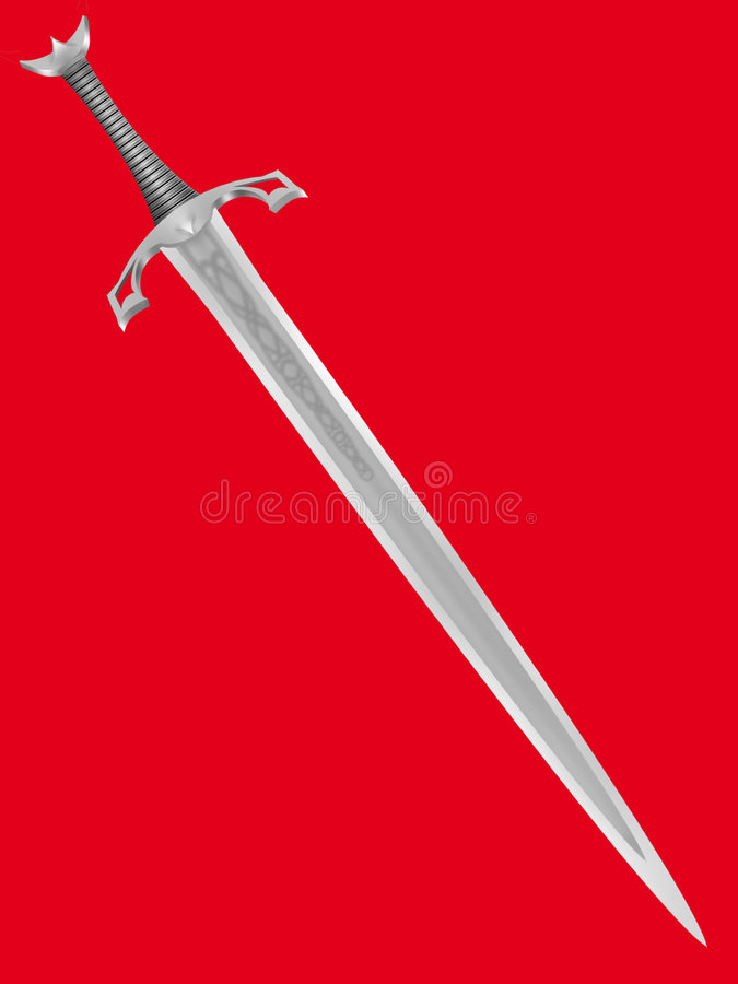 forntida knightly svärd stock illustrationer