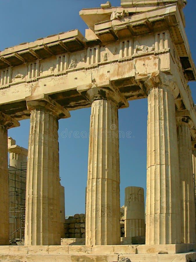 forntida kolonner royaltyfria bilder