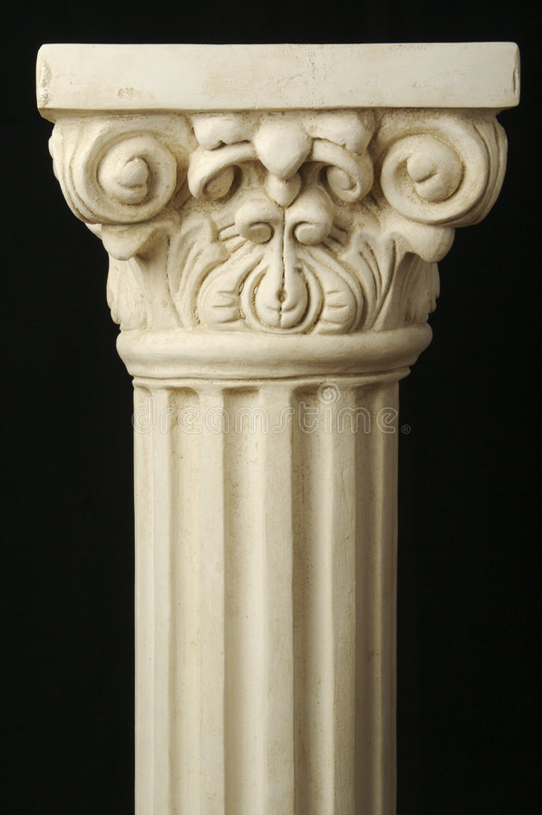 forntida kolonnpelare arkivfoto
