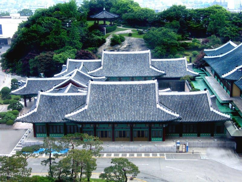 forntida koreansk slott arkivfoto