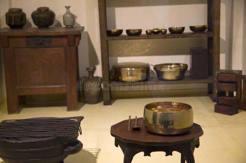 Forntida koreanska housewares fotografering för bildbyråer