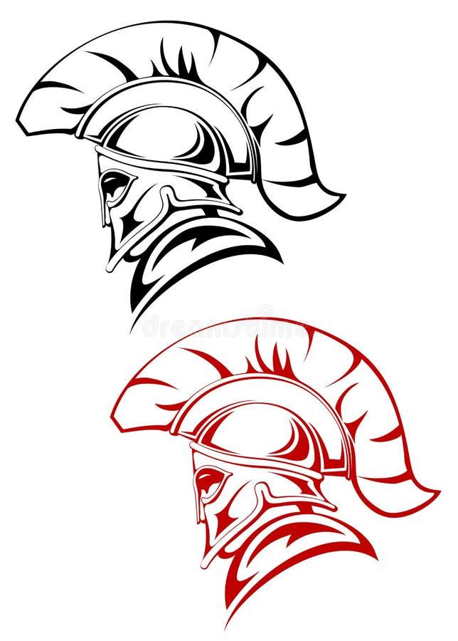 forntida krigare stock illustrationer