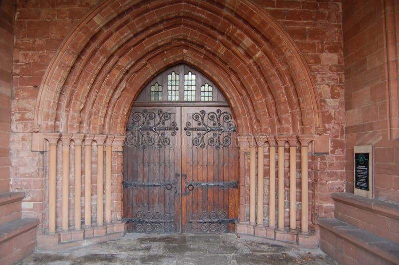 forntida kyrklig dörr royaltyfri foto
