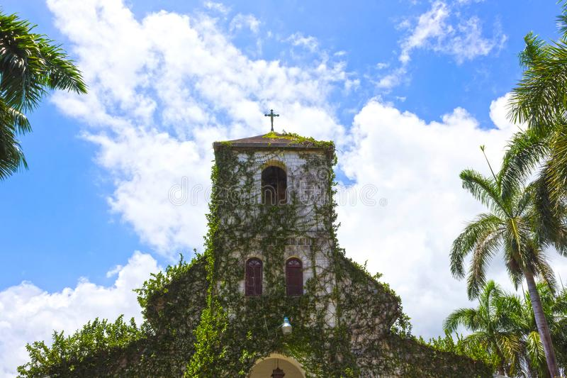 forntida kyrklig koloniinvånare jamaica royaltyfria foton