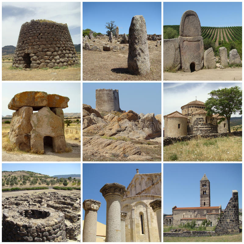 forntida landmarks sardinia royaltyfri bild