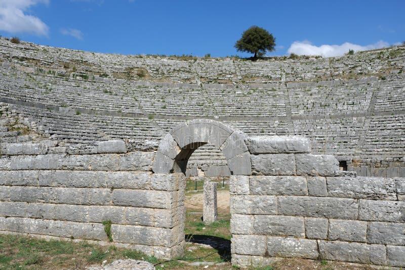 forntida lokal för dodonagreece orakel arkivbild