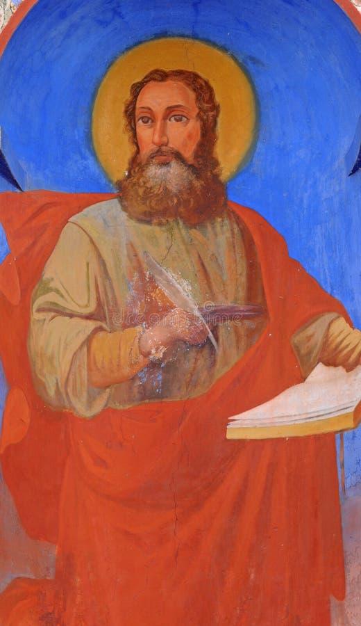 forntida målningsklosterbroder royaltyfri bild