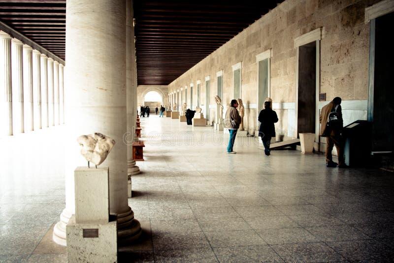 forntida marknadsplats arkivbild