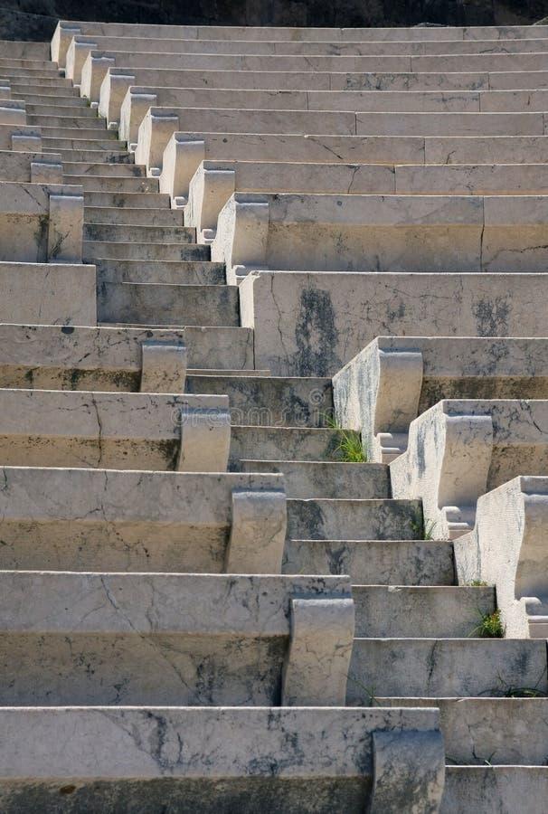 forntida marmor placerar trappateaterwhite fotografering för bildbyråer