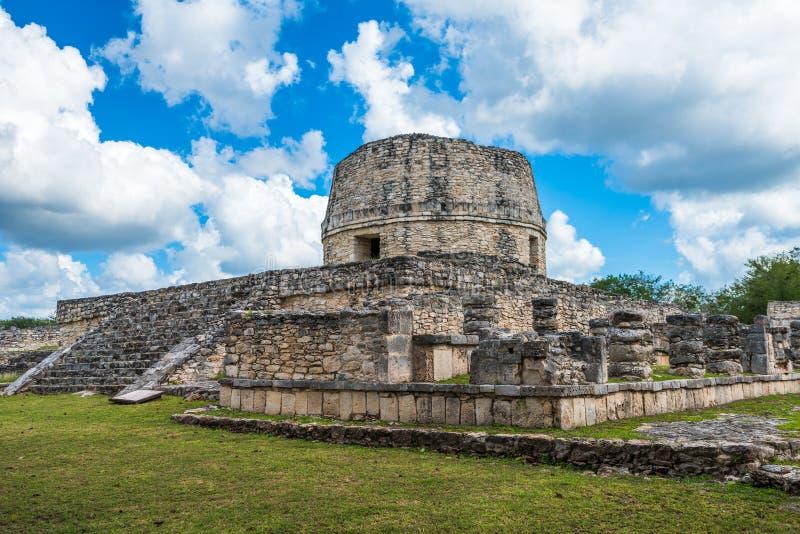 Forntida Mayapan fördärvar, Yucatan, Mexico royaltyfri fotografi