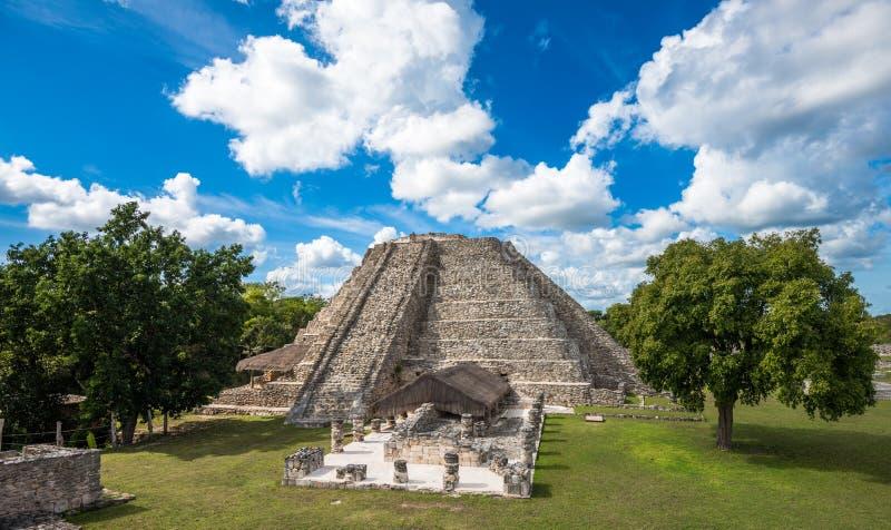 Forntida Mayapan fördärvar, Yucatan, Mexico royaltyfria bilder