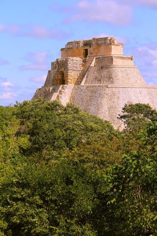 Forntida Mayastad av den Uxmal droppen royaltyfri fotografi