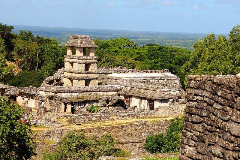Forntida mayastad av Palenque V royaltyfri bild