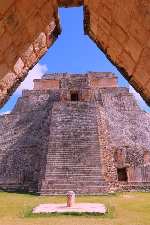 Forntida Mayastad av Uxmal I royaltyfri bild
