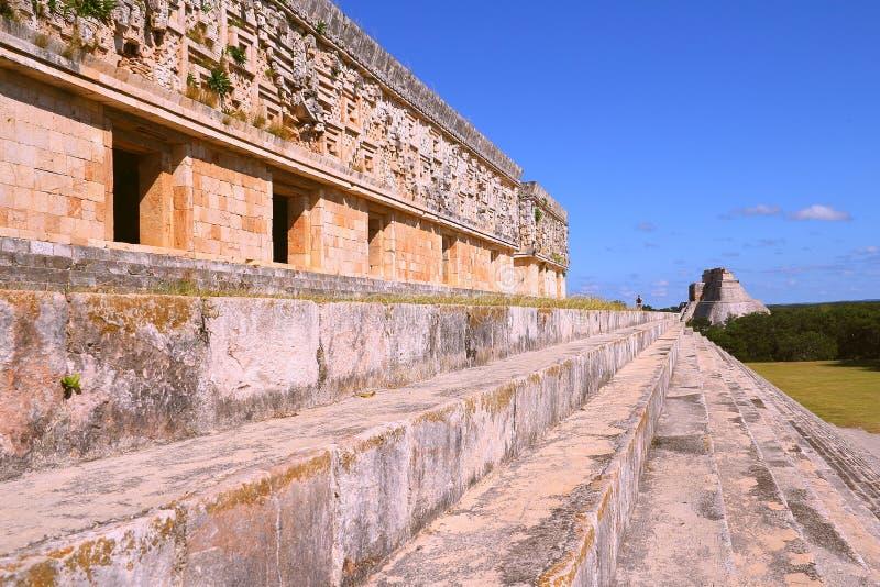 Forntida Mayastad av Uxmal IX arkivbilder
