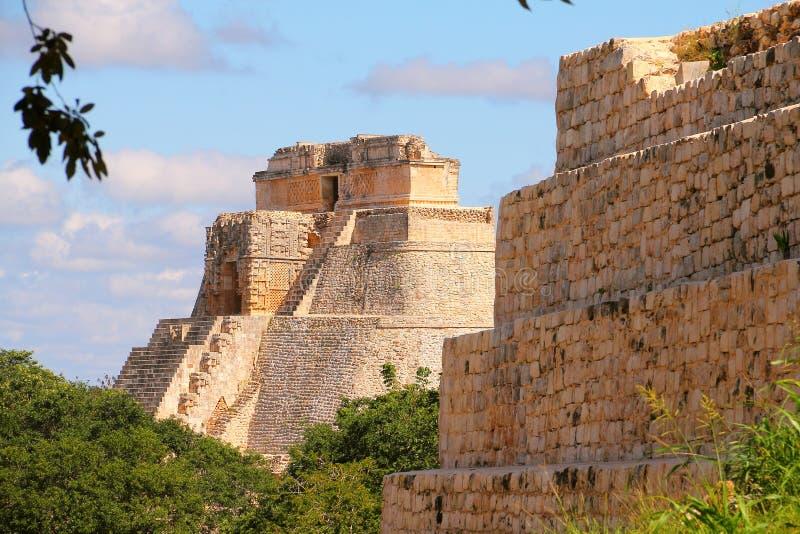 Forntida Mayastad av Uxmal V royaltyfri bild