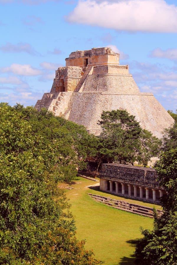 Forntida Mayastad av Uxmal XI royaltyfria foton