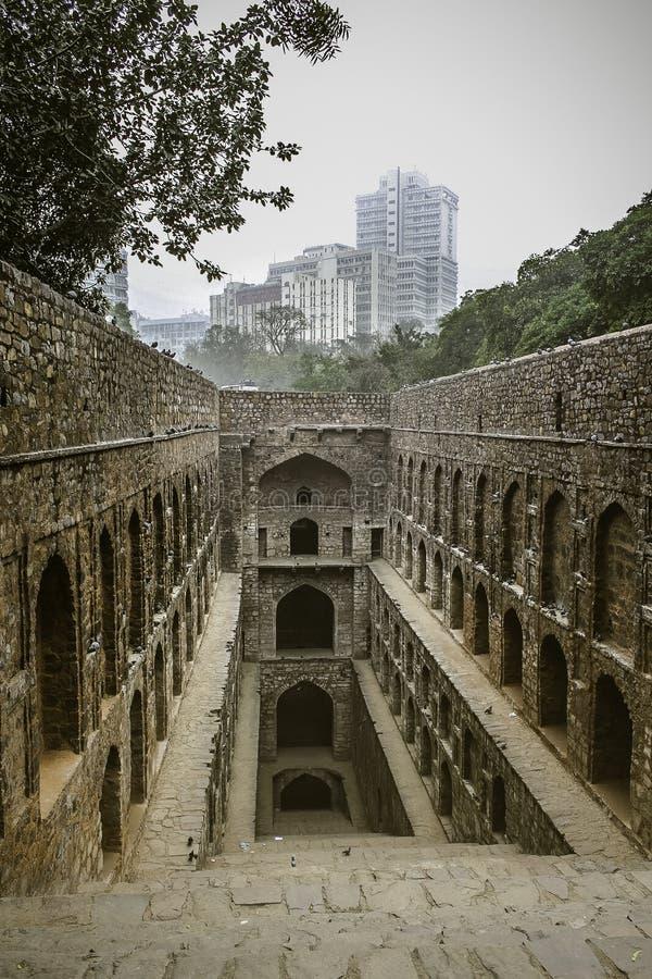 Forntida moment väl i Indien fotografering för bildbyråer