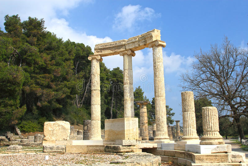 Forntida Olympia royaltyfria bilder
