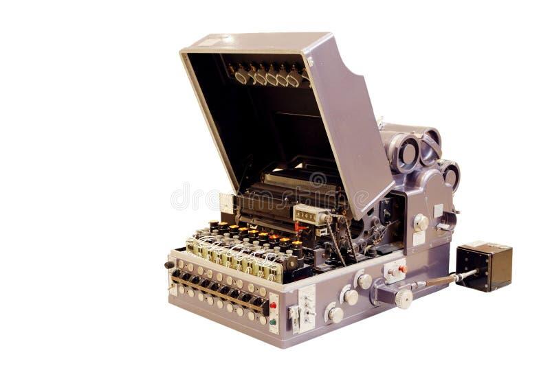 Forntida optisk bildläsare med galvanometern arkivfoto