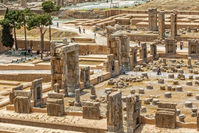 Forntida Persepolis fördärvar arkivbild