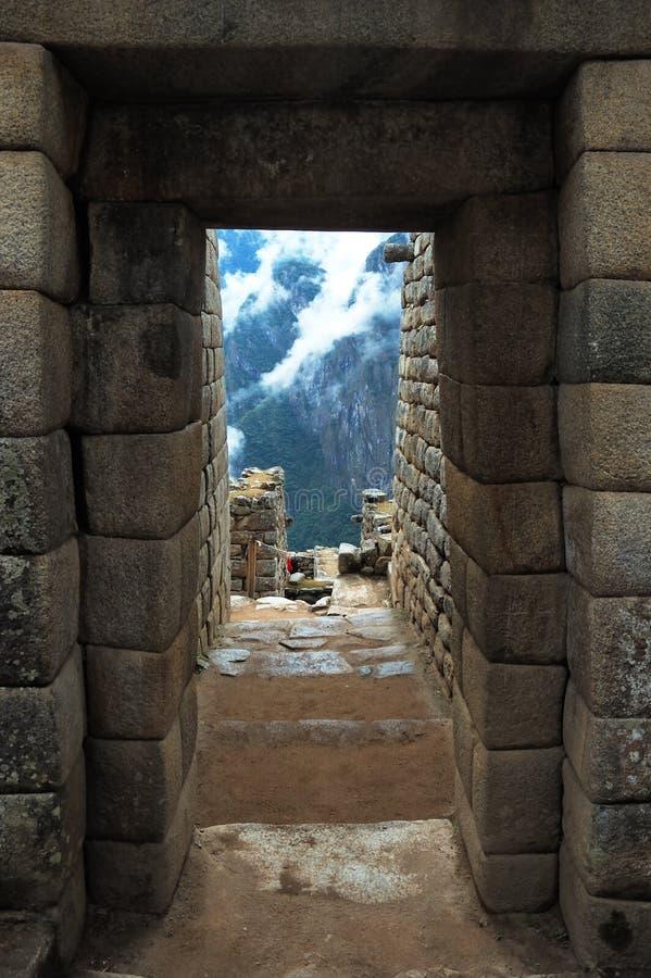 forntida picchu för dooincamachu royaltyfria bilder