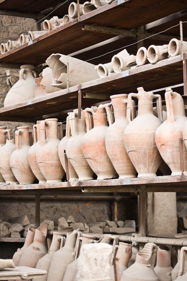 forntida pompei krukmakeri arkivfoto