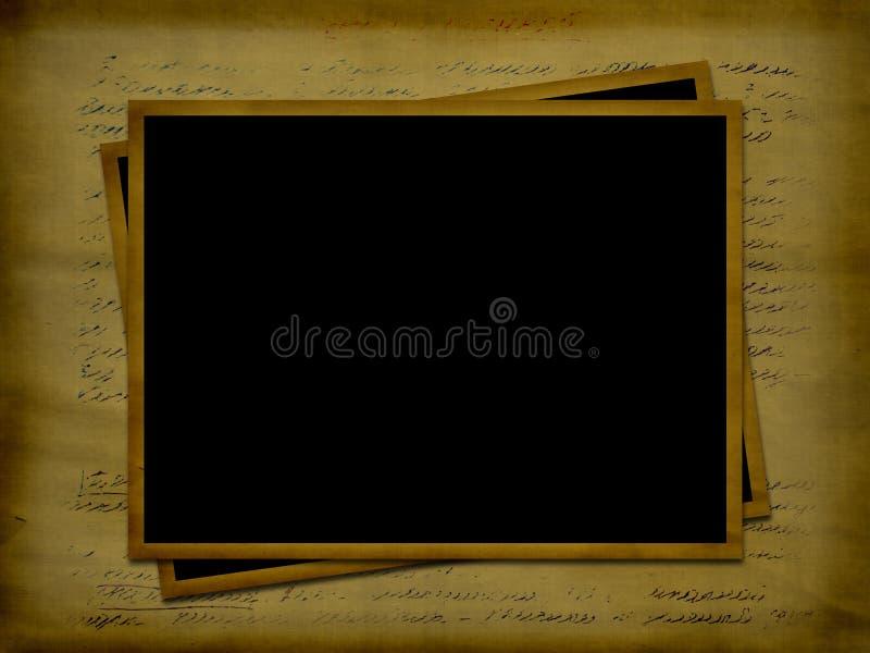 forntida ramar letter foto två stock illustrationer