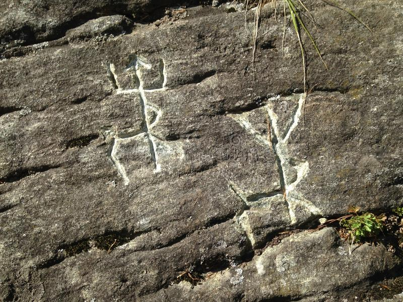 forntida rock för illustrationmålningsfolk Bild av hjortar eller älgen fotografering för bildbyråer