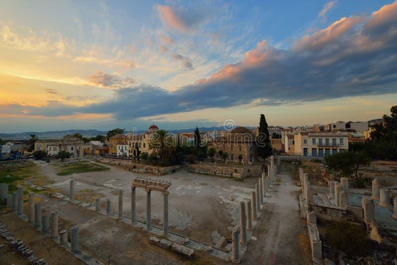 Forntida Roman Market på Monastiraki royaltyfria foton