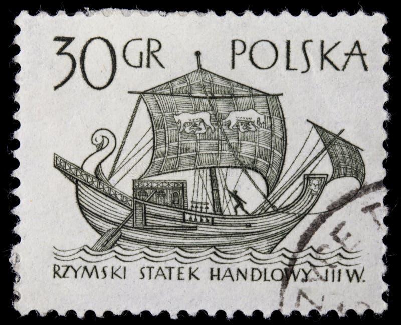 forntida roman shiphandel royaltyfri fotografi