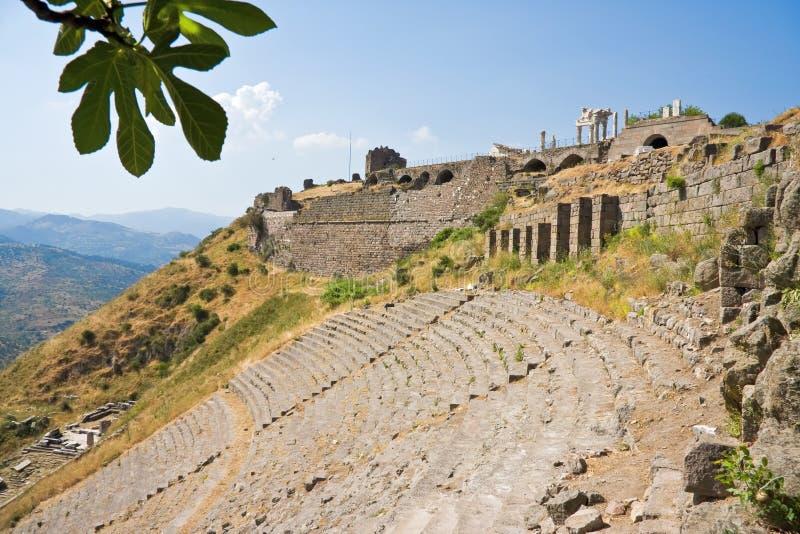 forntida roman theatre royaltyfria foton