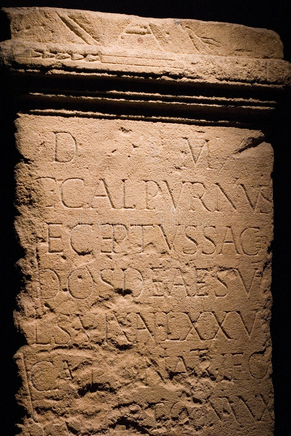 forntida roman writing royaltyfria bilder