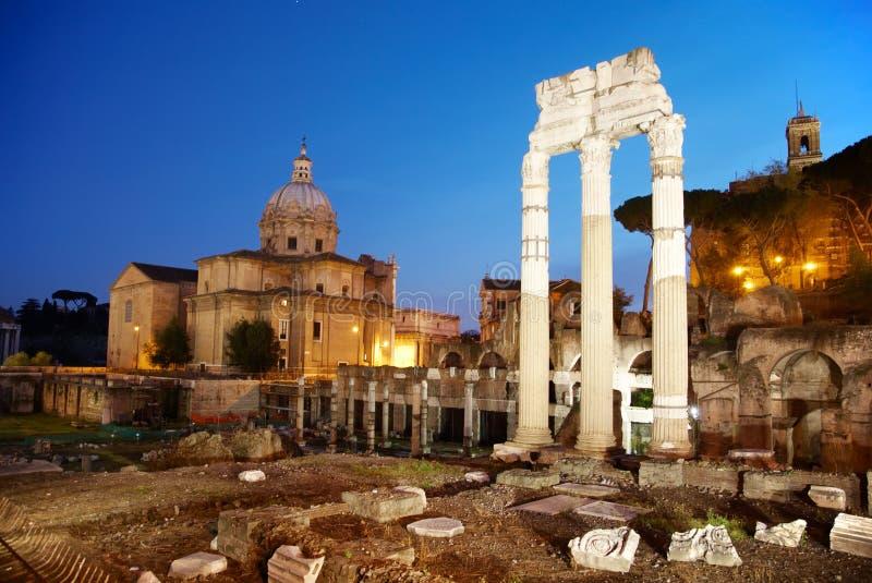 forntida rome fördärvar arkivbild