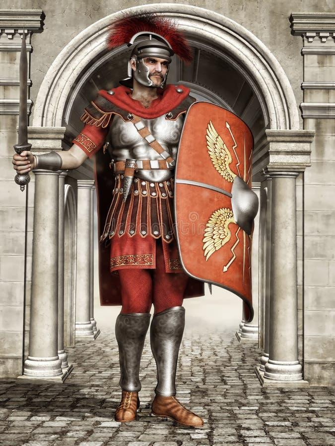 Forntida romersk soldat vektor illustrationer