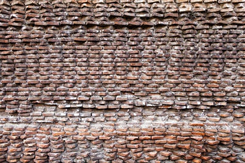 Forntida romersk vägg Fori Imperiali arkivfoton